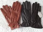 Ladies vintage gloves UNUSED 1970s brown or tan size 7 Vinyl PVC Faux leather