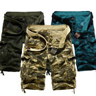 New Men Casual Military Army Cargo Camo Combat Work Shorts Pants Knee Trousers