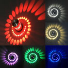 Dimmable/N 3W LED Wall Sconces/ Ceiling Light Spiral Lamp Disco Aisle Vestibule