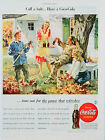 Vintage rare Coca-cola ad print poster, large 4 sizes available