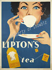 Vintage rare Lipton's Tea ad print poster, large 4 sizes available