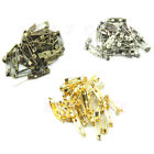 100pcs 20mm Stainless Steel Brooch Back Bar Pins Jewelry Accessories Size Choose