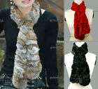 Hot NWT Real Farms Rex rabbit Fur Wrap Shawl Scarf Gift Black Red Nature Yellow