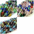 Faceted Crystal Glass Bicone Beads 4mm - 6mm & 8mm Mixed Colours Jewellery ML