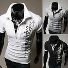 NEW Men Slim Fit Stylish POLO Shirt Short Sleeve Casual T-shirts Tee Tops 4 Size