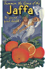 Vintage Jaffa Art ad print poster, large 4 sizes available
