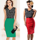 ❤SO Pretty❤Women's Polka Dots Slim Bodycon  Evening Cocktail Party Pencil Dress