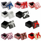 New 4pcs Jewellery Box Necklace Bracelet Ring Earring Gift Box Jewelry Boxes