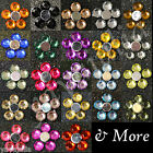 5000 pcs 5K Acrylic Crystal Round Flat Back Rhinestones Gems Lot Color Wholesale