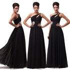 Womens One Shoulder Long Chiffon Prom Evening Formal Ceremony Party Gown Dresses