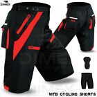 MTB Cycling Short Off Road Cycle CoolMax Padded Liner Shorts Black/Red M to 2XL