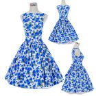 Vintage Dress Retro Dancing Party Prom Rockabilly Swing Jive 50s 60s Skirt Polka