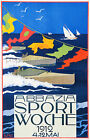 Vintage 1912 Boat Racing travel print poster-large 4 sizes available