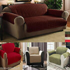 Quilted Sofa Furniture Chair Protector Slip Cover Throw For 1 / 2 / 3 Seater UK