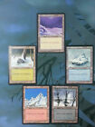 CHOOSE ONE -  EX PLAYED  Ice Age OLD Snow-Covered Basic Land -  x1 / x4 MTG Card