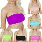 Womens Ladies New Sexy Floral French Lace Bandeau Boob Tube Bra Size: S M L