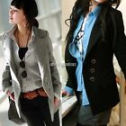 Fashion Women Girl Parka Slim Wool Blend Long Warm Winter Coat Jacket Outerwear