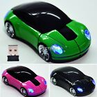 Wireless Optical 1800DPI USB Mouse Mice 2.4G Car Shaped For Laptop PC DZ88