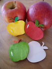 10 Hand-painted Blank / Mixed colours Wooden Apple Shape Craft Embellishment
