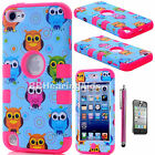 For iPod Touch 5th 6th Gen Hard Soft High Impact Armor Hybrid Rubber Case Cover