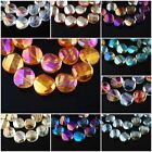Lovely Faceted Glass Crystal Twist Tile Beads Spacer Finding 14mm Charms 11Color