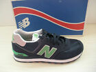 New Balance Womens Wl574nsg Athletic Shoes-sneakers- Navy Blue / Green-new New