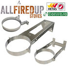 """Convesa 5"""" Or 6"""" Adjustable Wall Brackets For Twin Wall Insulated Flue Pipe"""