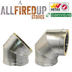 """Convesa 5"""" Or 6"""" Elbows Twin Wall Insulated Flue Pipe For Multifuel Stoves"""