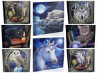 Stunning Lisa Parker Canvas Wall Hanging Plaque Cat//Wolf/Owl/Unicorn/Raven/Hare