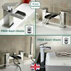 OZONE WATERFALL BATHROOM TAP SET - BASIN MONO, BATH FILLER, SHOWER MIXER & WASTE