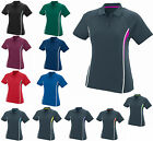 LADIES WICKING, 3 BUTTON PLACKET, TRI-COLOR, GOLF, SPORT, POLO SHIRT S M L XL 2X