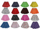 "Polka Dot 15"" Skater Skirt Full Circle Fancy Dress 60s 70s Rock n Roll"