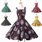 SEXY NEW VINTAGE STYLE 40'S 50'S 60S AUDREY FLORAL SUMMER SWING GOWN PROM DRESS