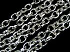 Silver Plated Chunky Oval Link Chain 9mm x 7mm Links Craft Beads Jewellery ML