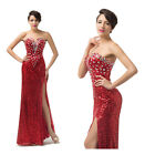 Formal Celebrity RED Banquet Pageant Evening Ball Gown Cocktail Party Long Dress