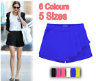 2014 SEXY LADIES WOMENS CELEBRITY PLAIN NEON SKORTS  MINI SKIRT SHORT SKORTS