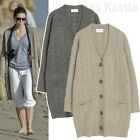 Annakastle New Womens Lambs Wool Chunky Cable Knit Long Sweater Cardigan Size S