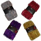 CHRISTMAS Tree 50ft TINSEL Purple, Red, Gold or Silver GREAT VALUE