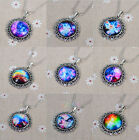 Fashion Glass Galaxy Sky Handmade Photo Pendant Charm Time Friendship Necklace