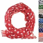 Polka dot oversize scarf, Soft Feel, 1950s 1960s Dot, Gift for Girl, women