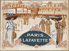 "Vintage French ""Paris Lafayette' ad print poster, large 4 sizes available"