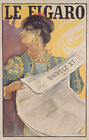 Vintage French 'Le Figaro' ad print poster, large 4 sizes available