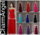 Long Women's Dresses Wedding Bridesmaid Evening Party Formal Prom Dress Gowns