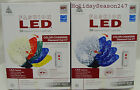 50 Faceted C7 LED Color Changing Blue White Multi Christmas Light Show + Remote