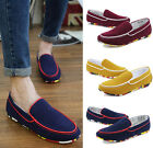 New Summer Men's Suede Board Shoes Flat Driving Moccasins Sneakers Shoes T163