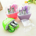 New 9pcs Manicure Set Manicure Pedicure Set Nail Clippers Scissors Grooming Kit