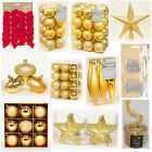GOLD Collection Christmas Decorations Baubles Stars Cones Tinsel Tree Topper