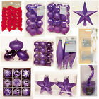 PURPLE Collection Christmas Decorations Baubles Stars Cones Tinsel Tree Topper