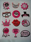 hen night / party male rateing party game stickers