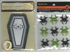 U CHOOSE  Recollections  GLITTER SPIDERS   COFFIN (that opens)    3D Stickers